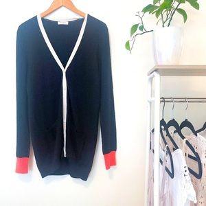 Equipment Femme Womens V Neck Cardigan Sweater S